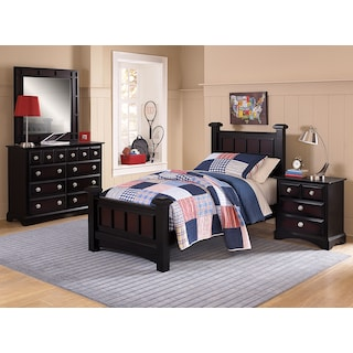 Winchester 6-Piece Bedroom with Nightstand, Dresser and Mirror