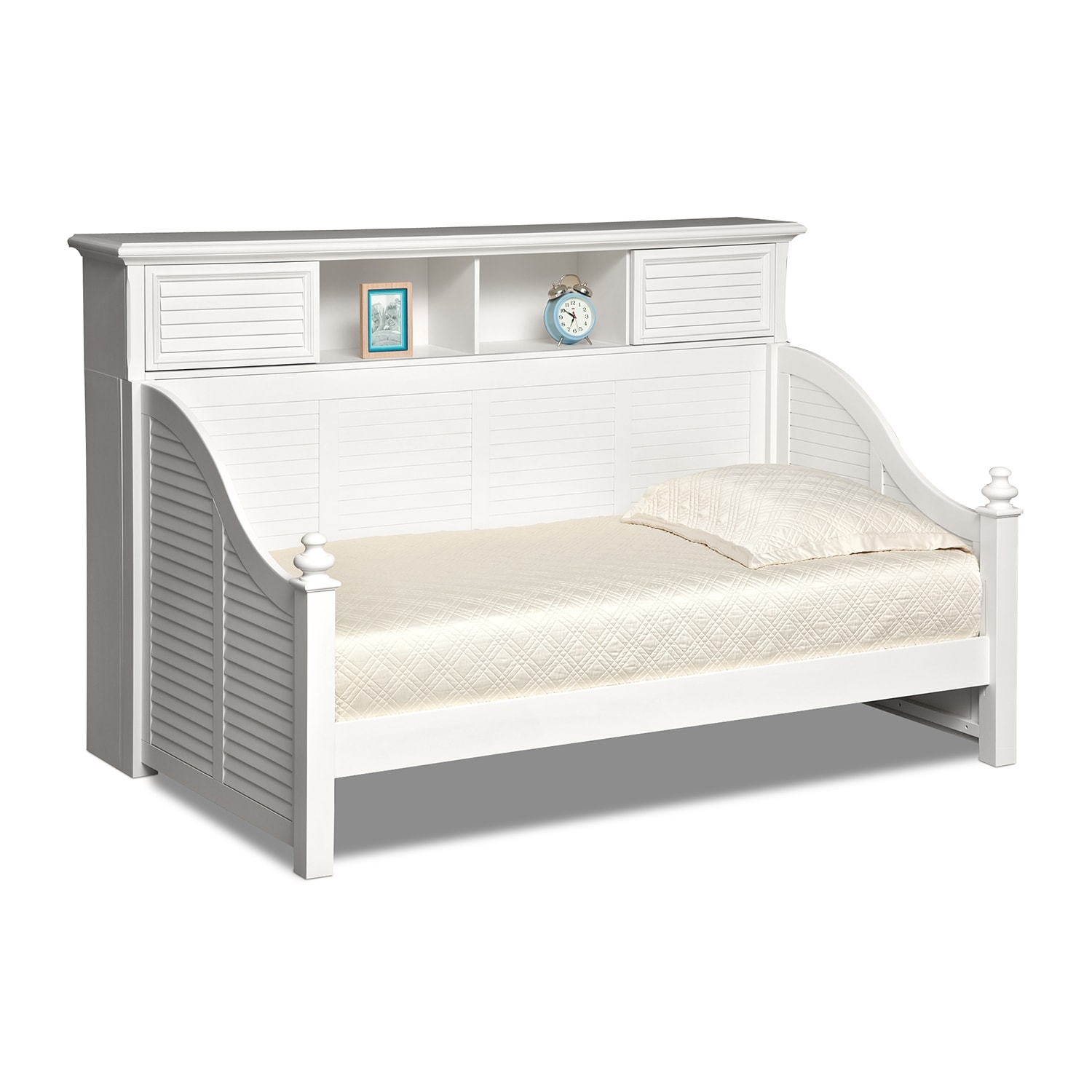 Kids Furniture - Seaside Twin Bookcase Daybed - White