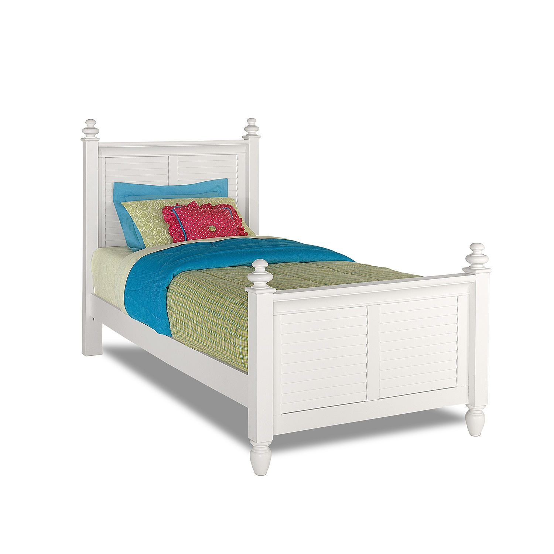 Seaside full bed white american signature furniture for American children s bedroom furniture