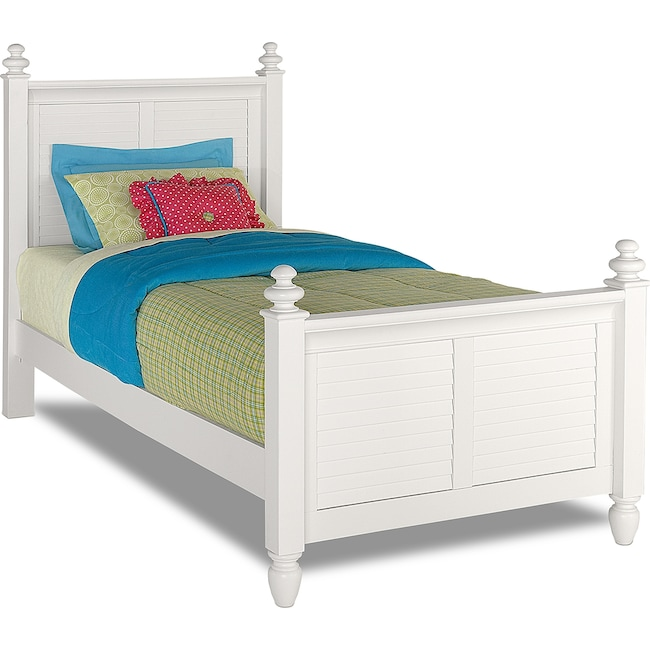 Kids Furniture - Seaside Twin Bed - White