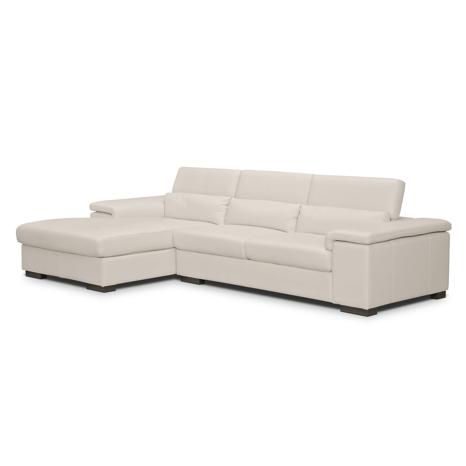 Living Room Furniture - Ventana 2-Piece Left-Facing Sectional - Mist