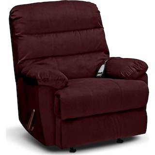 Atlantic Massage Rocker Recliner - Berry