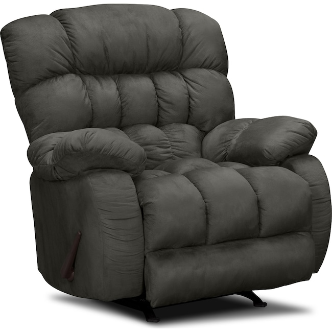 Living Room Furniture - Sonic Rocker Recliner - Graphite
