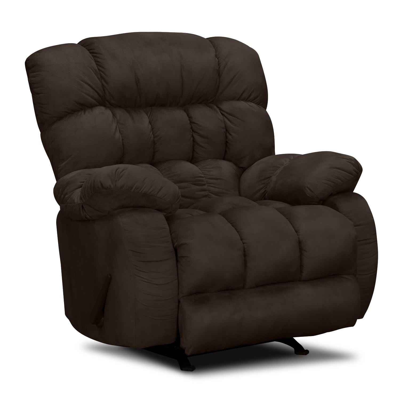 Living Room Furniture - Sonic Rocker Recliner - Brown