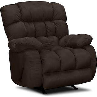 Sonic Manual Rocker Recliner - Brown