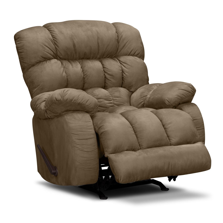 Sonic Rocker Recliner Taupe American Signature Furniture