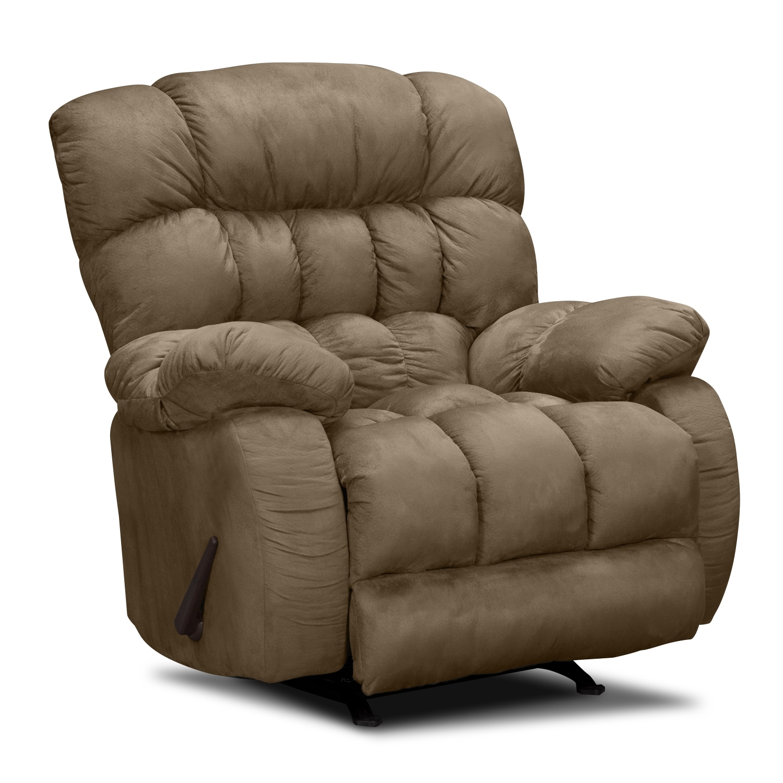 Living Room Furniture - Sonic Rocker Recliner - Taupe