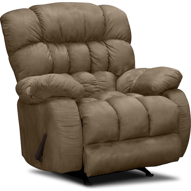Living Room Furniture - Sonic Rocker Recliner - Taupe