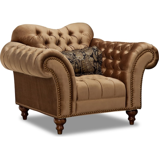 Living Room Furniture - Brittney Chair - Bronze