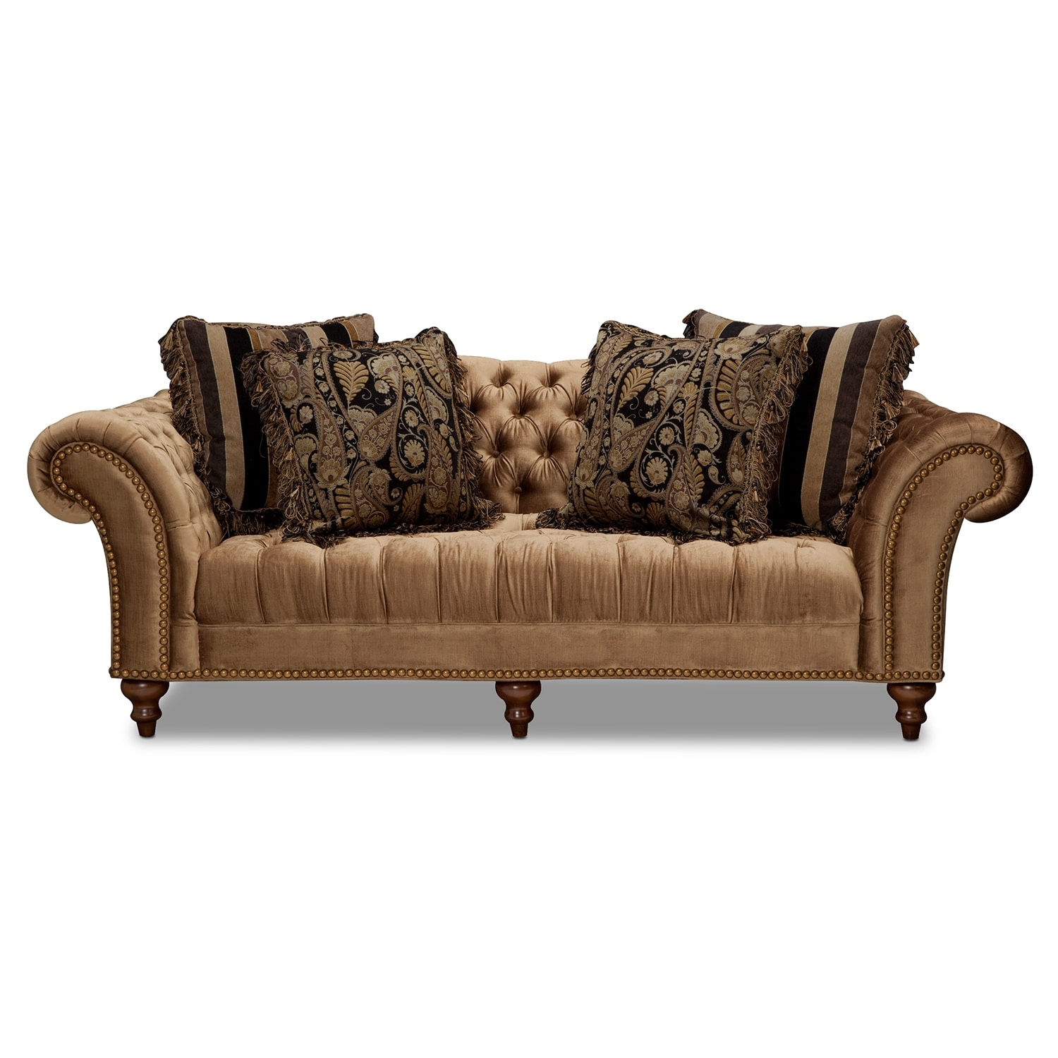 Brittney sofa bronze american signature furniture for Signature furniture