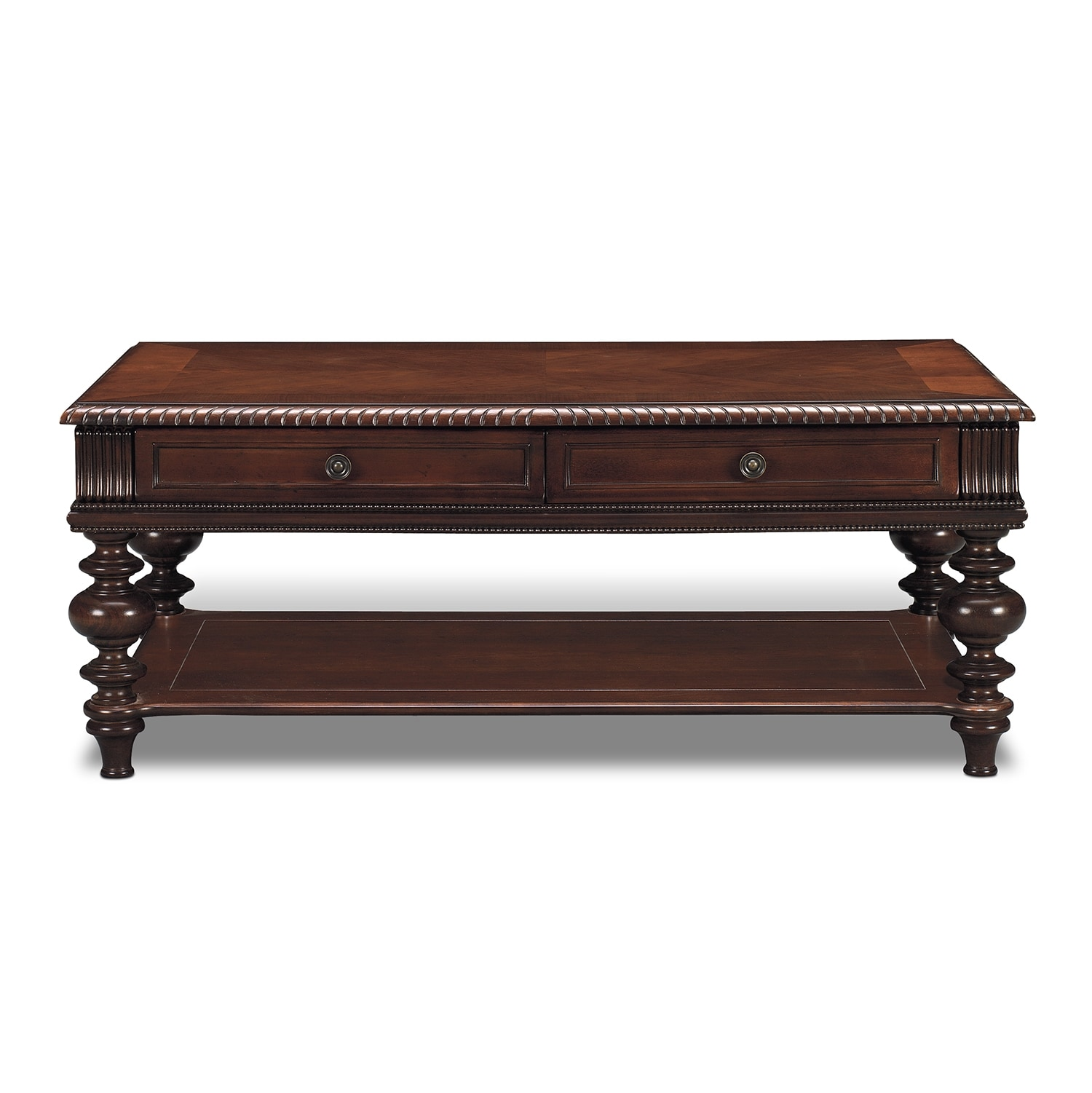 Westham cocktail table cherry american signature furniture Coffee table cherry