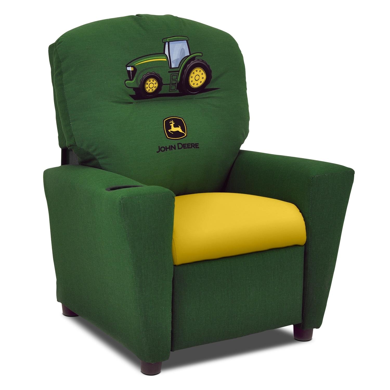Kids Furniture - John Deere Child's Recliner - Green