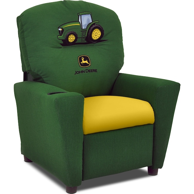 Kids Furniture - John Deere Child's Recliner - Green