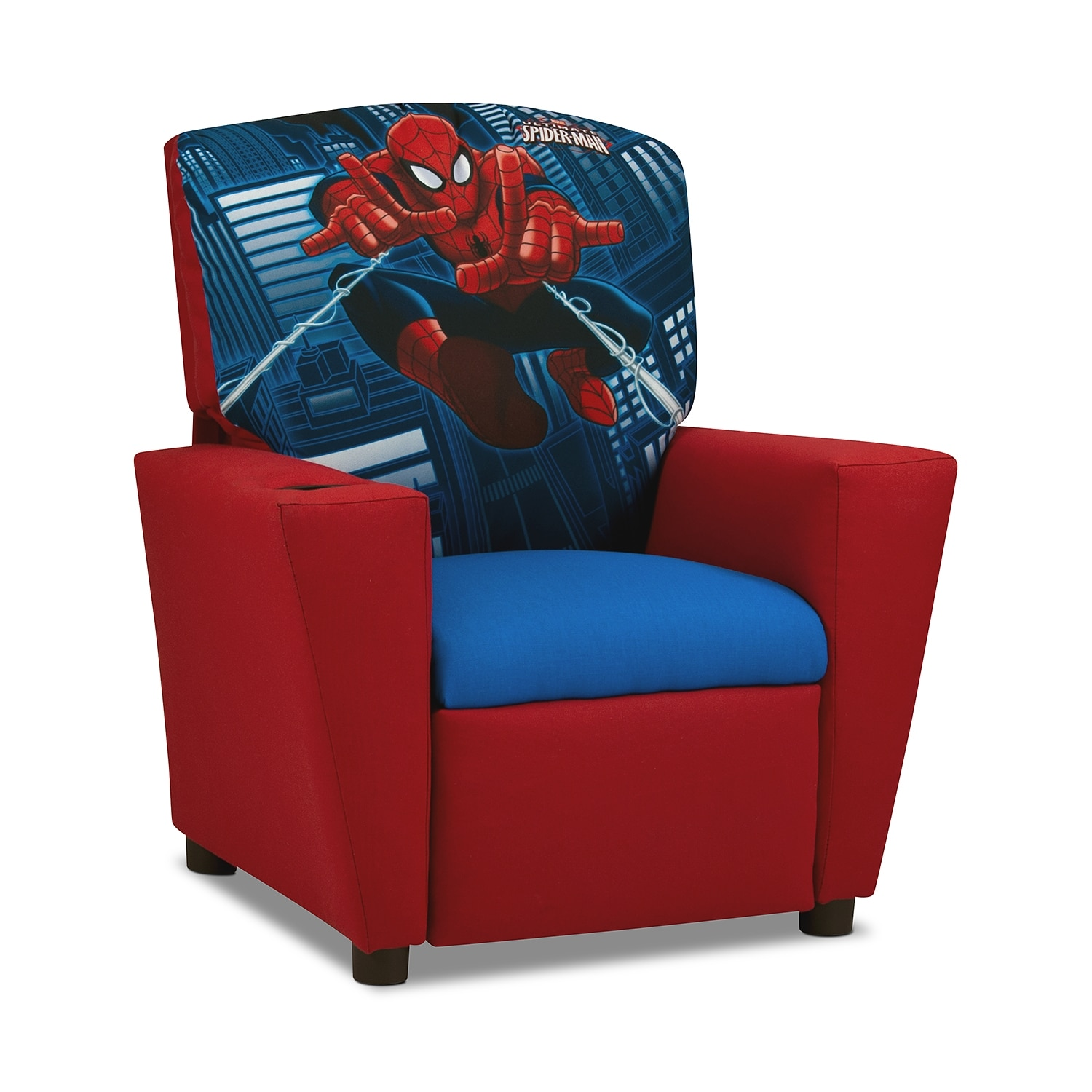 Spider man child 39 s recliner red american signature - Table et chaise spiderman ...