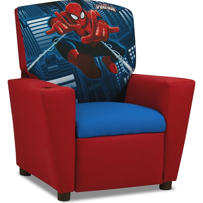 Kids Furniture - Spider-Man Child's Recliner - Red