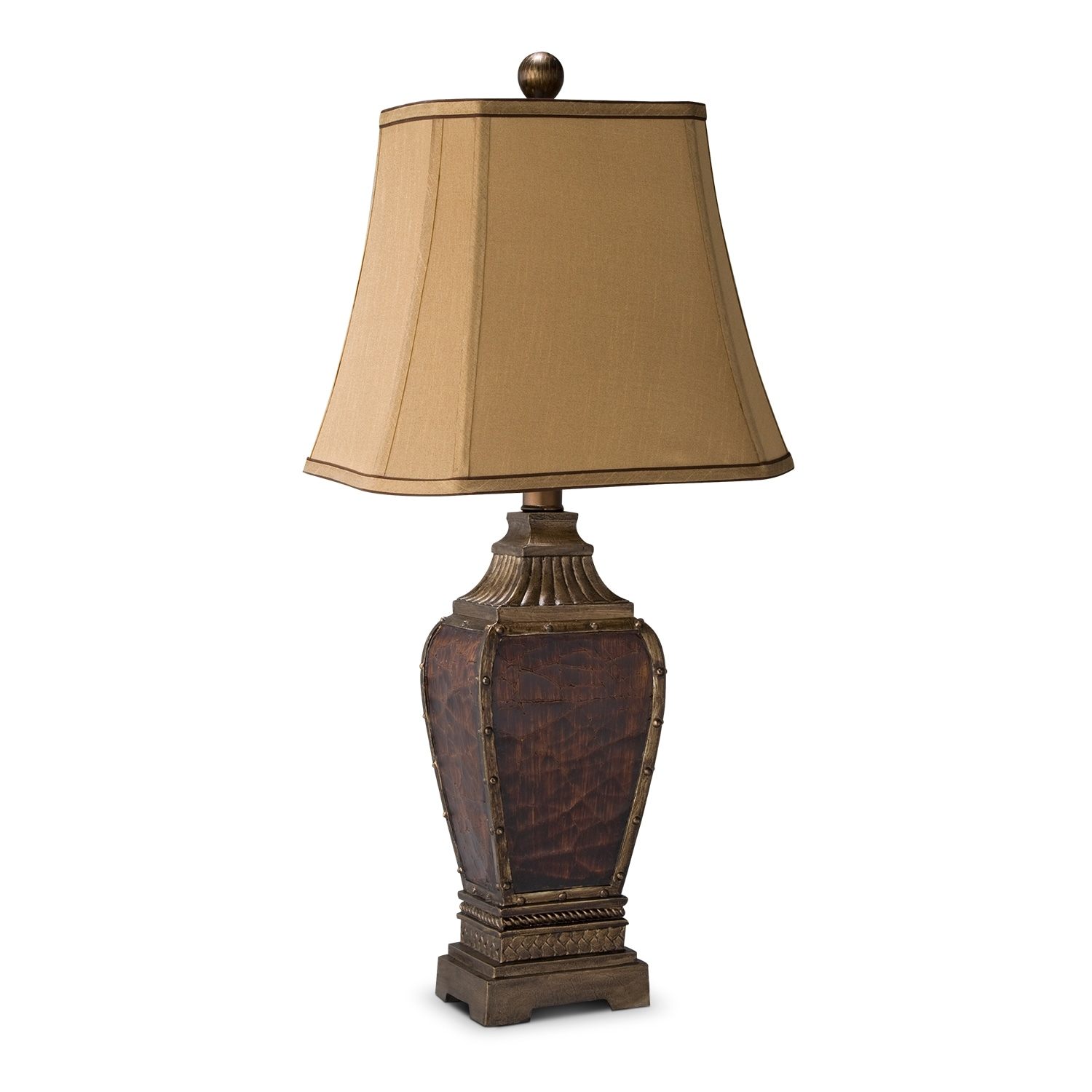 Home Accessories - Leather Nails Table Lamp