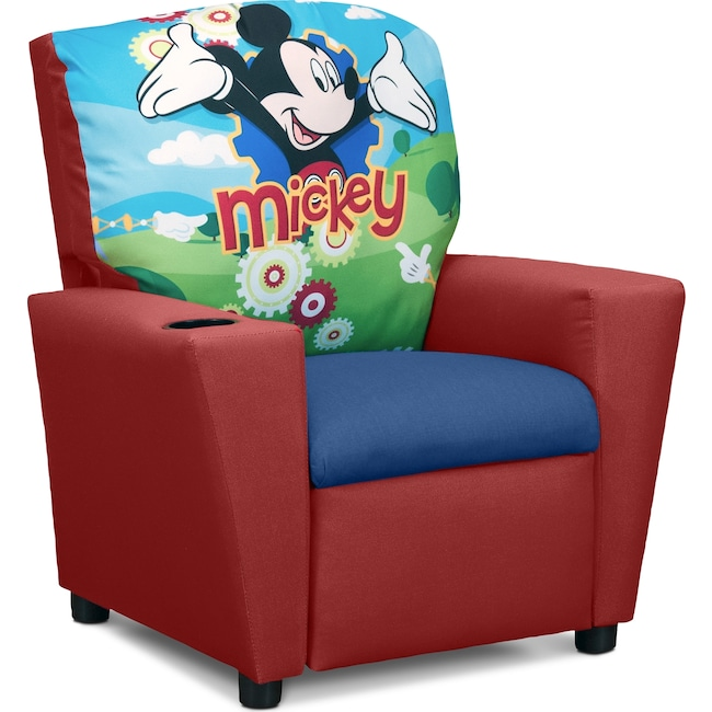 Kids Furniture - Mickey Mouse Child's Recliner - Red