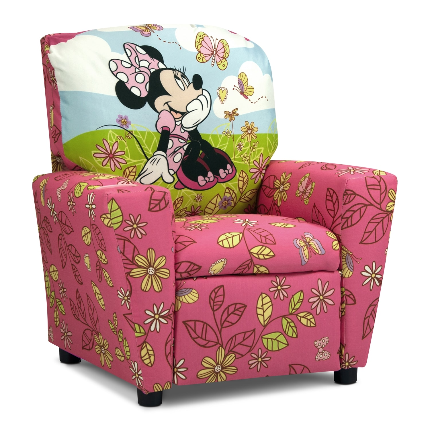 Minnie Mouse Child's Recliner - Pink