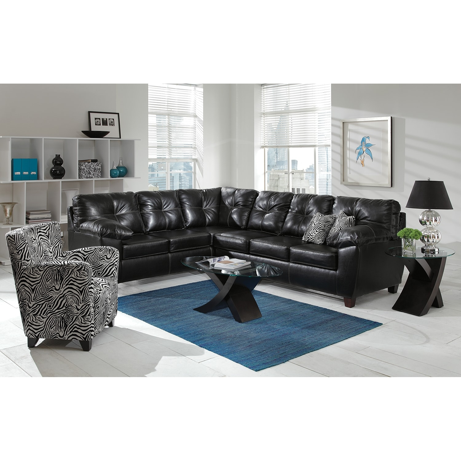 Ricardo 2 Piece Memory Foam Sleeper Sectional with Left Facing