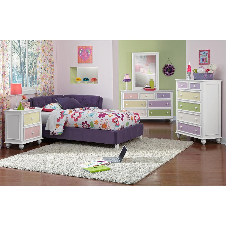 Jordan Full Corner Bed - Purple | American Signature Furniture
