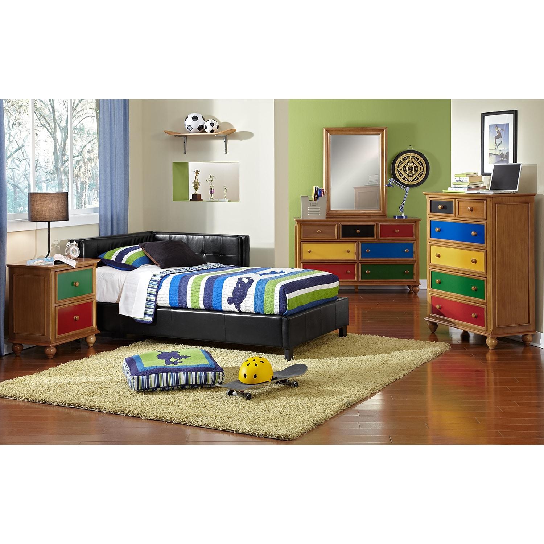 Jordan Full Corner Bed Black American Signature Furniture