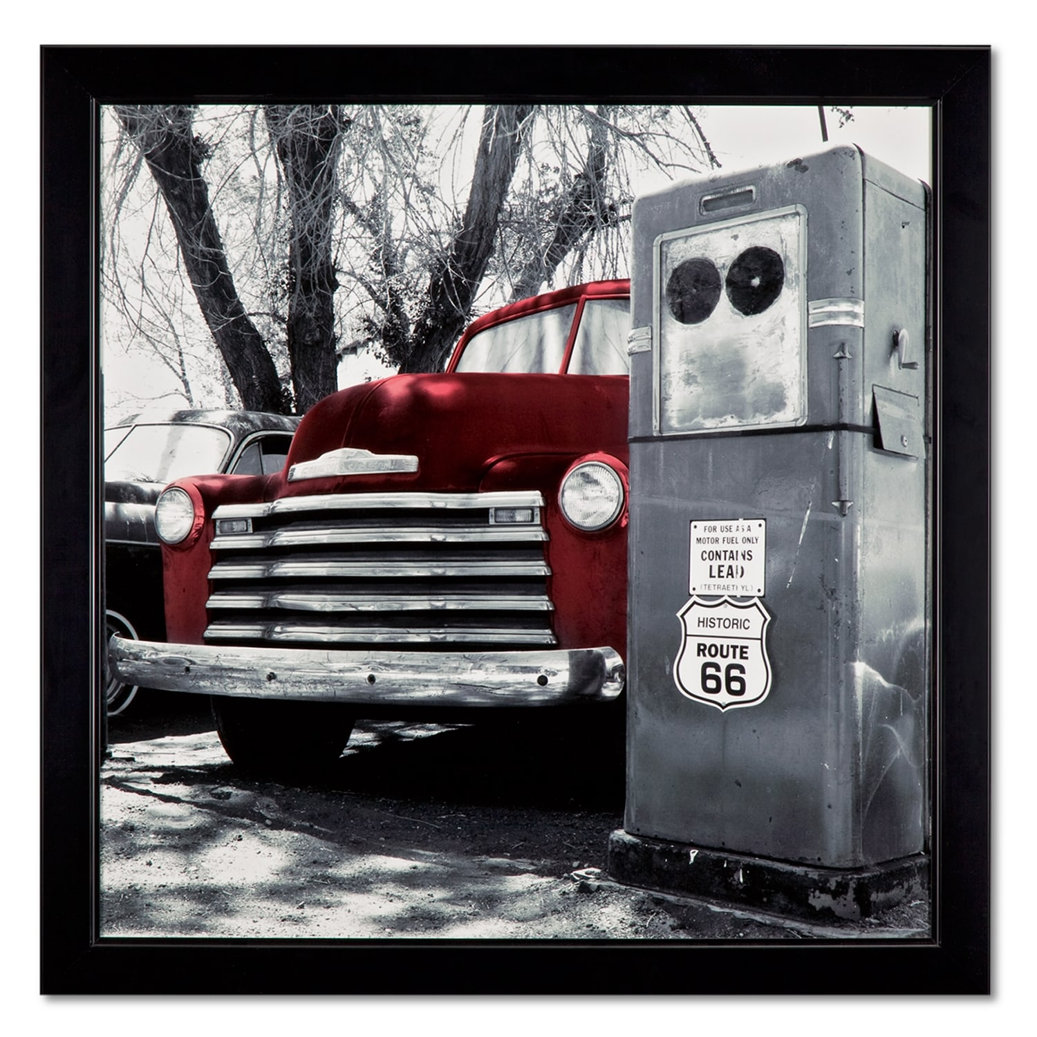 Home Accessories - Vintage Red Truck Framed Print
