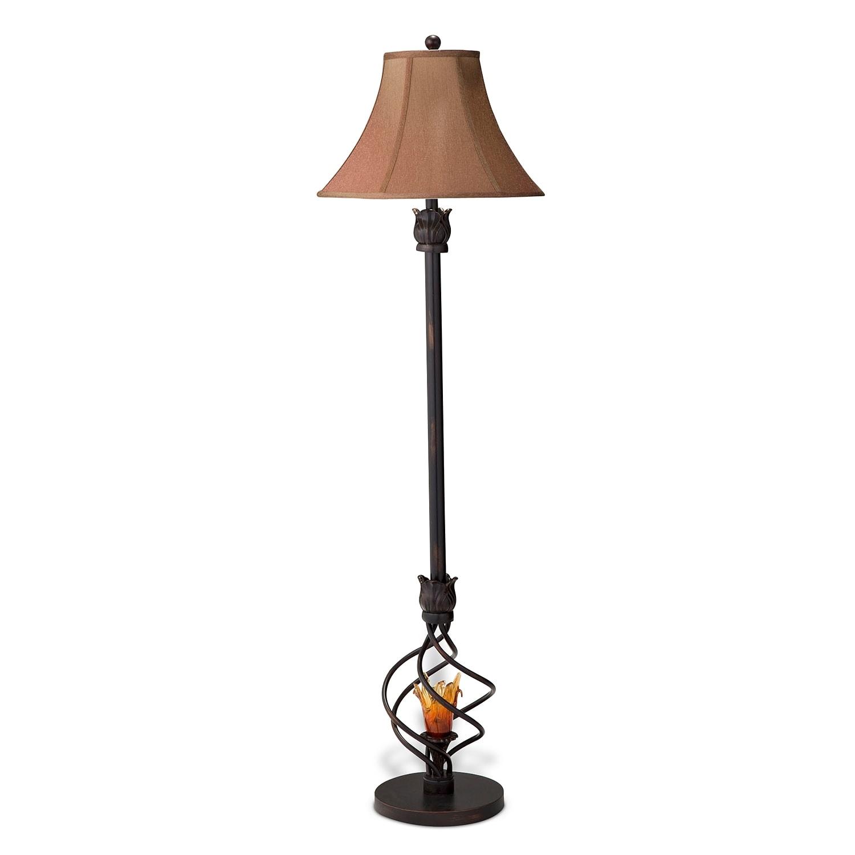 Home Accessories - Fire Light Floor Lamp