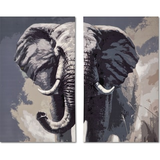 Elephant 2-Piece Canvas Print