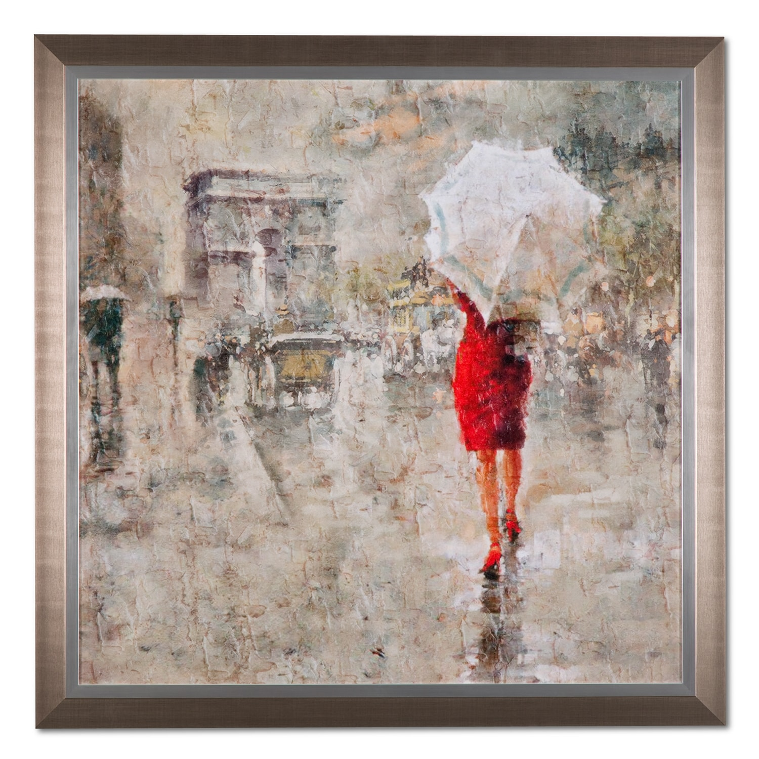 Home Accessories - Rainy Day Champs-Elysées Framed Print