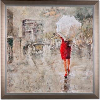 Rainy Day Champs-Elysées Framed Print