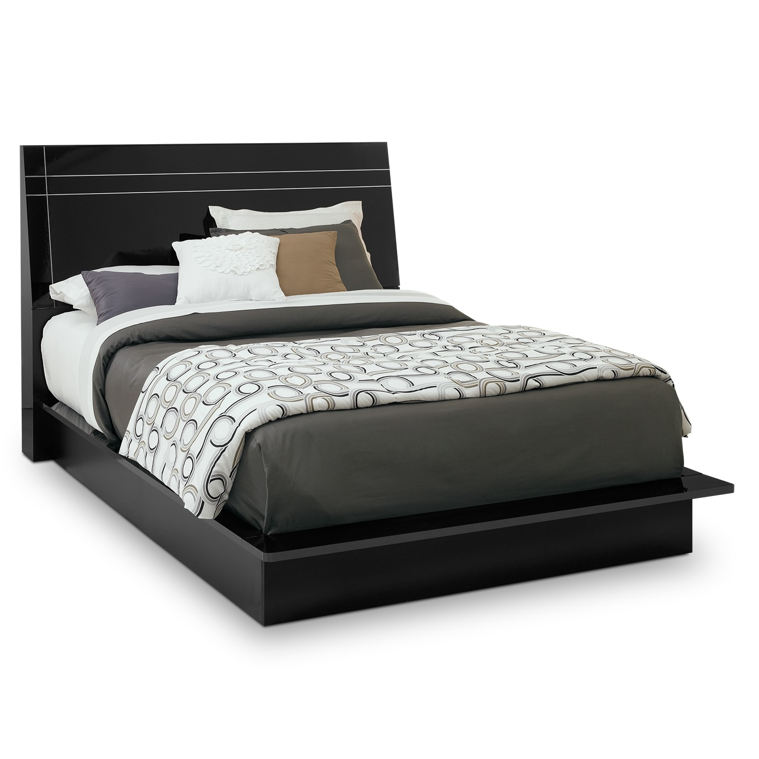 Bedroom Furniture - Dimora King Panel Bed - Black