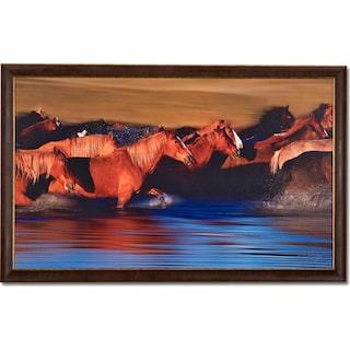 Water Crossing Framed Print