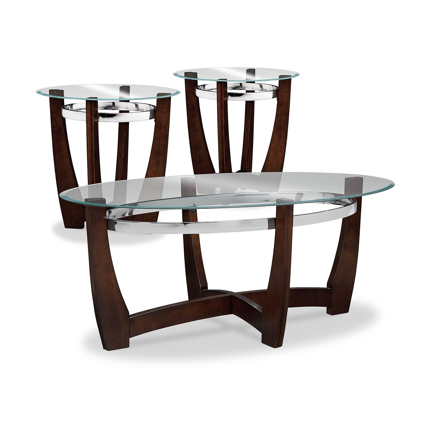 Accent and Occasional Furniture - Alcove 3-Pack Tables