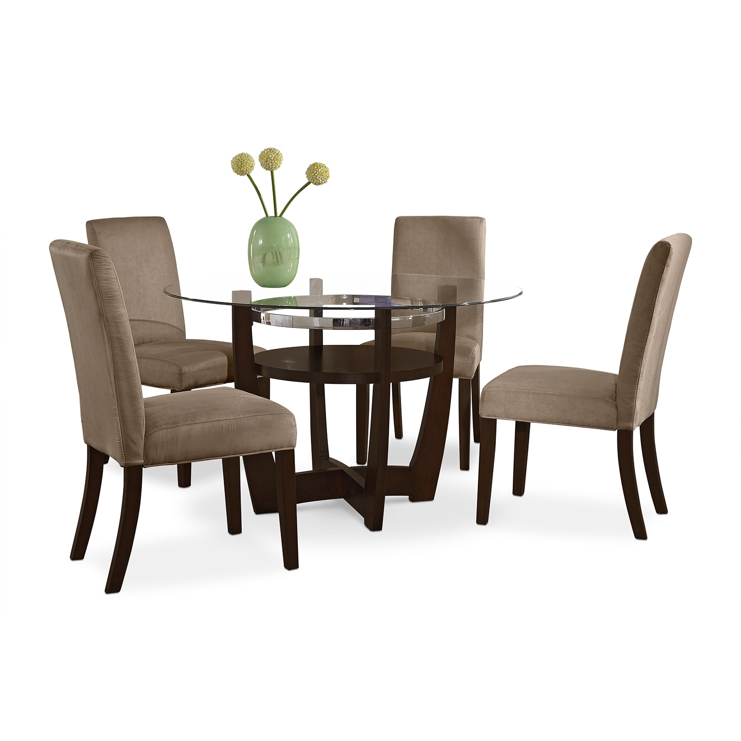 Dining Room Furniture - Alcove Dinette with 4 Side Chairs - Beige