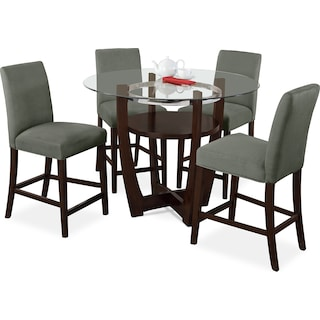 Alcove Counter Height Dinette With 4 Side Chairs
