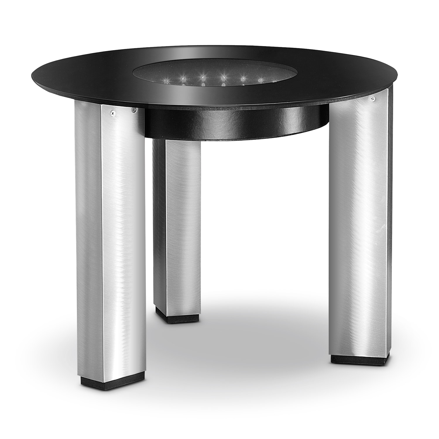Accent and Occasional Furniture - City Lights End Table - Silver and Black