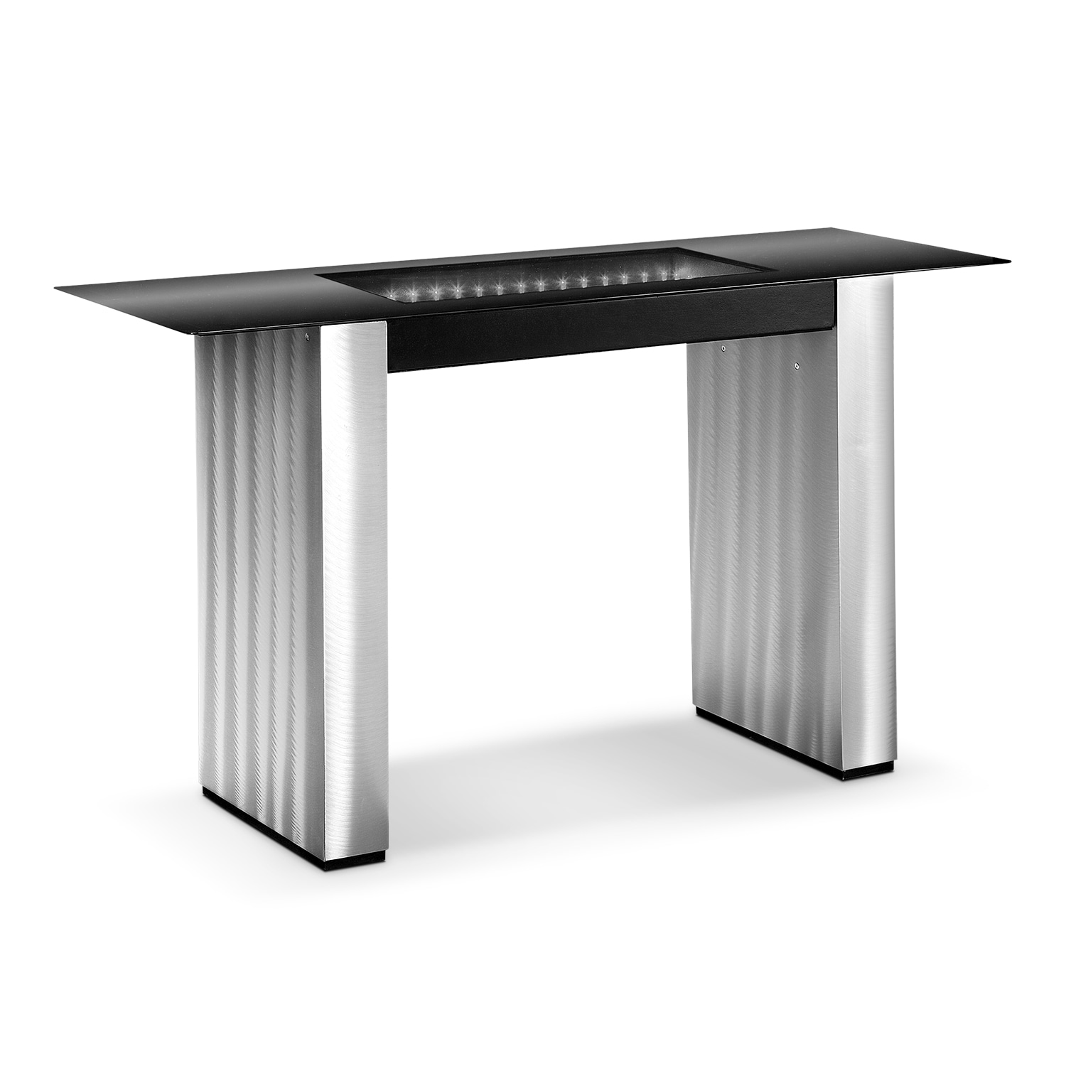 City Lights Sofa Table - Silver and Black