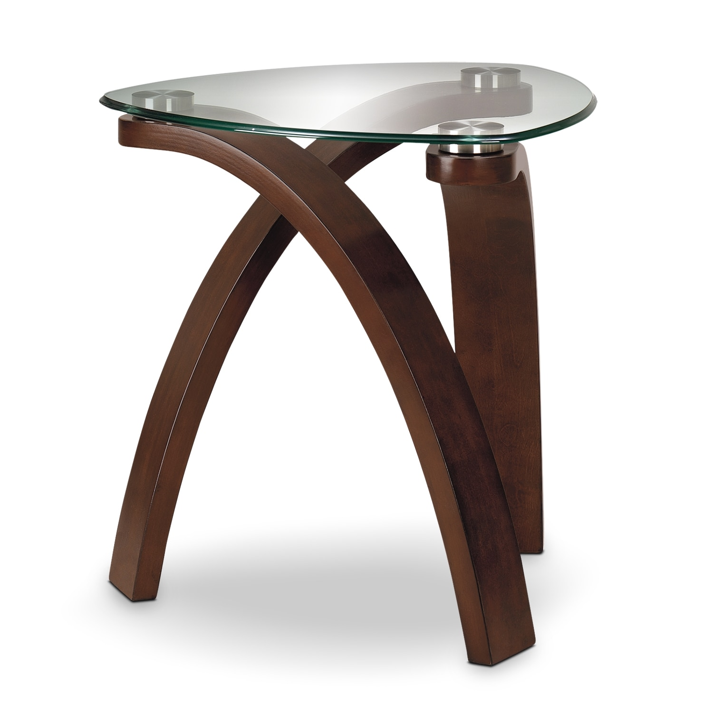 allure end table merlot allure furniture