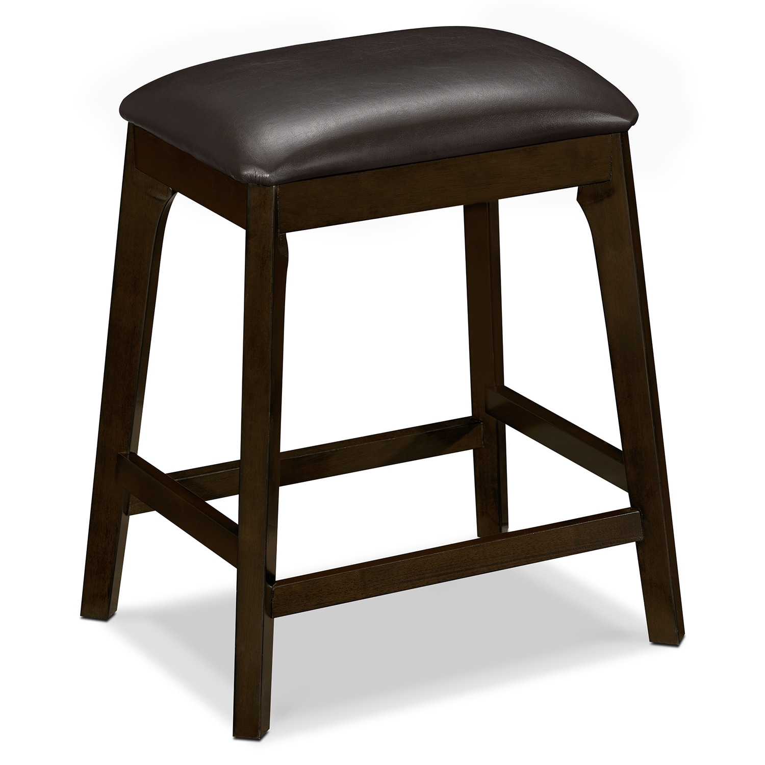 Mystic Backless Counter-Height Stool - Merlot and Chocolate