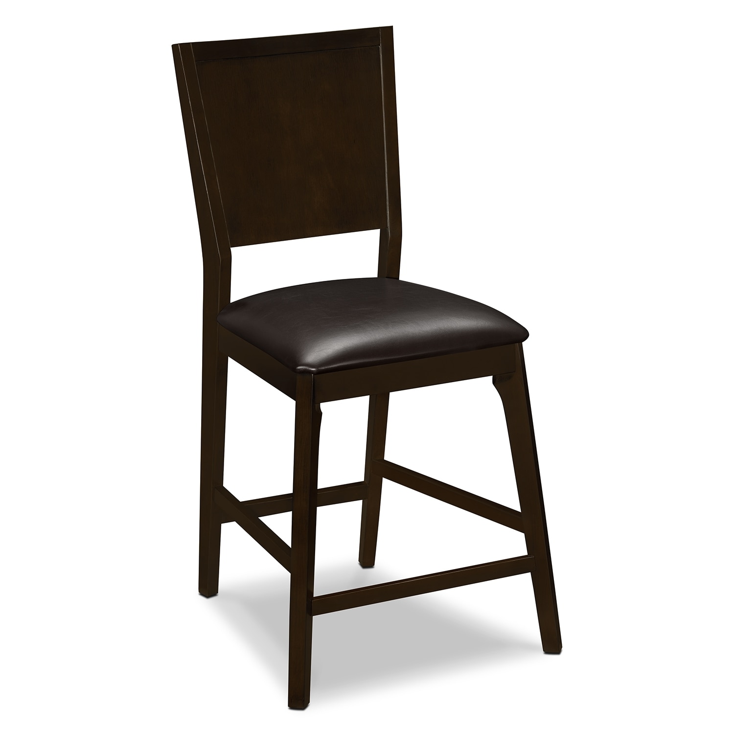 Mystic Counter-Height Stool - Merlot and Chocolate