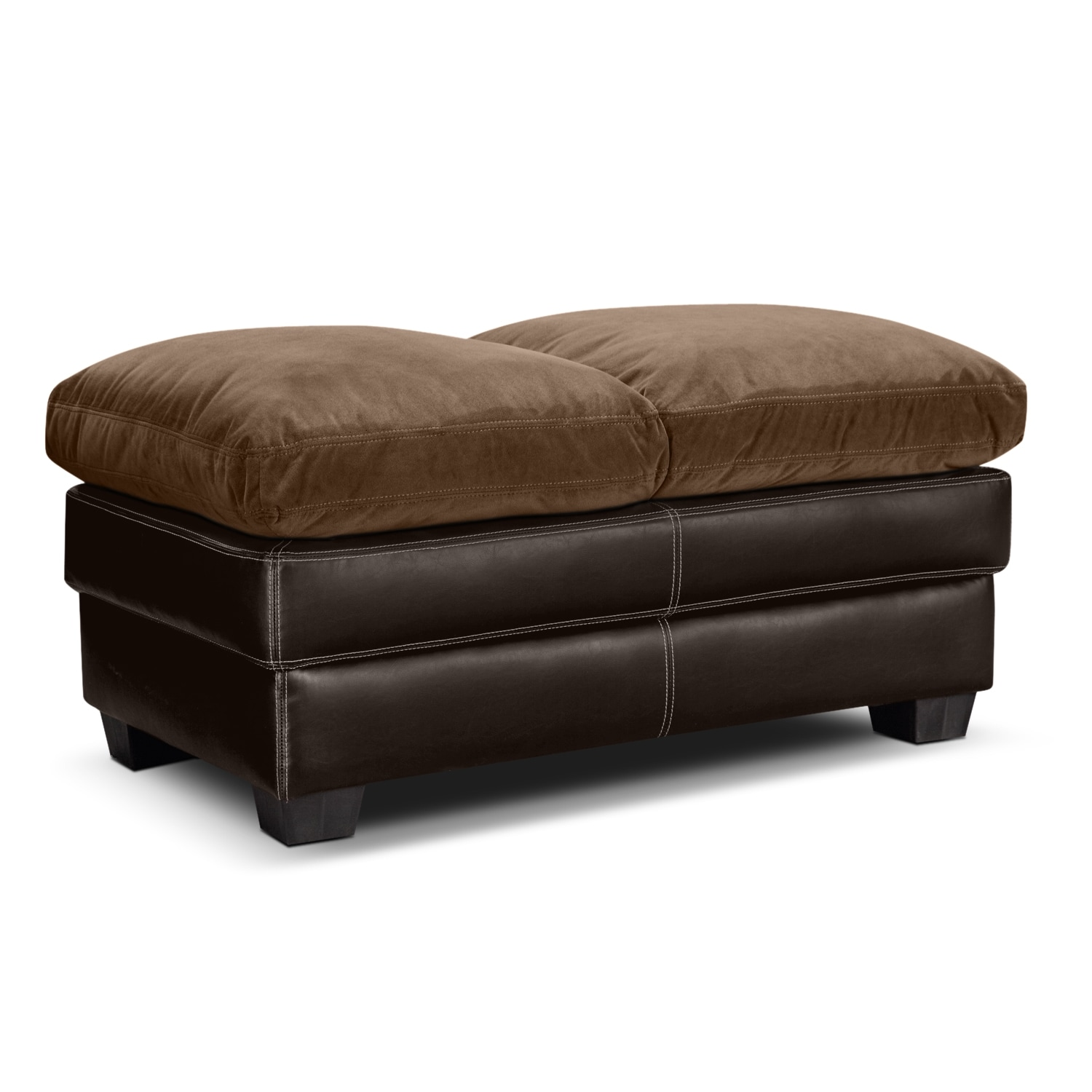 Living Room Furniture - Chandler Beige Cocktail Ottoman