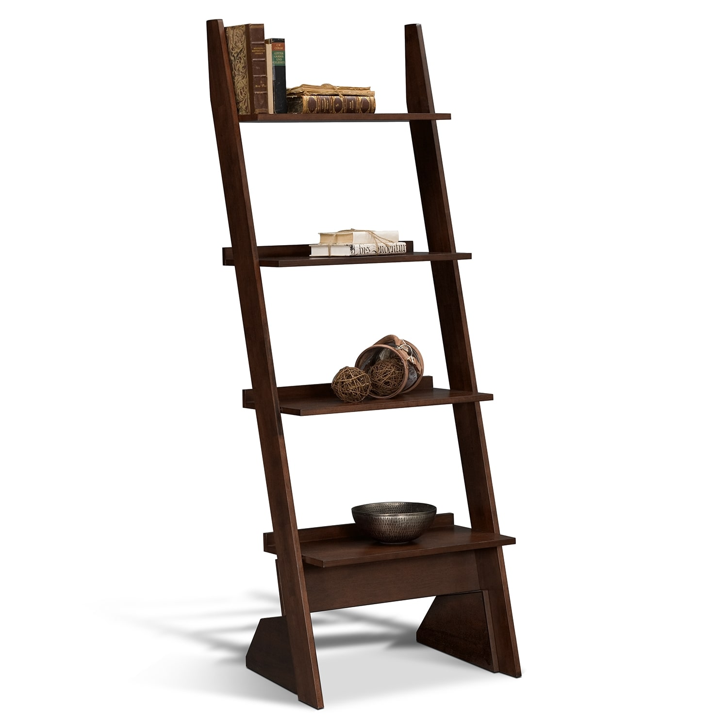 Accent and Occasional Furniture - Arts & Crafts Dark Leaning Bookshelf
