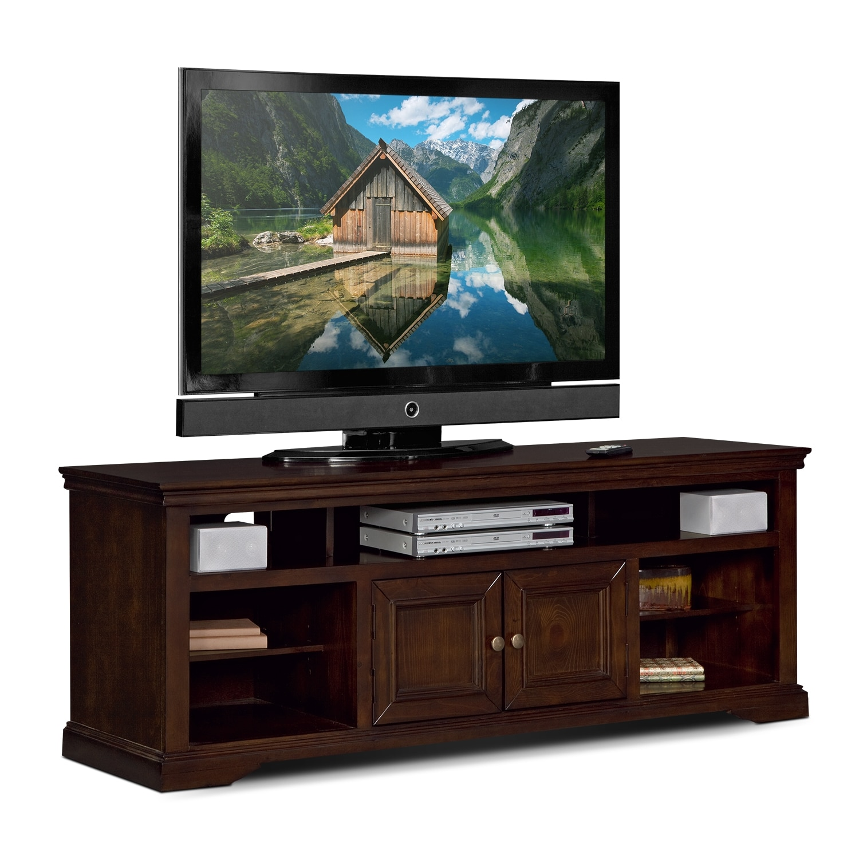 tv stands media centers storage cabinets american signature furniture. Black Bedroom Furniture Sets. Home Design Ideas