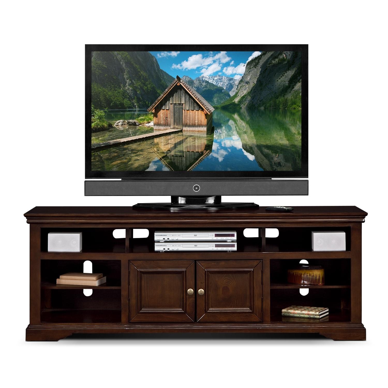 jenson 70 tv stand cherry american signature furniture
