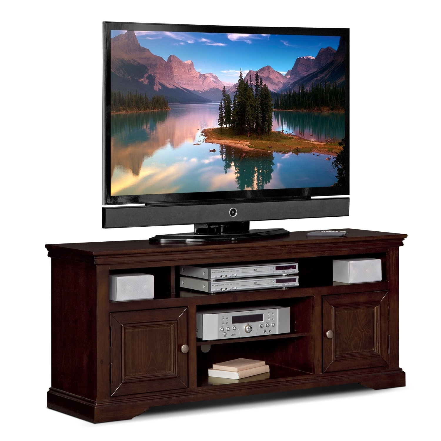 Jenson 60 Tv Stand Cherry American Signature Furniture