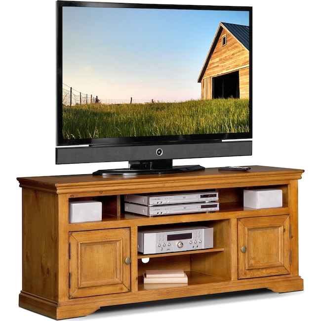 "Entertainment Furniture - Jenson 60"" TV Stand - Pine"