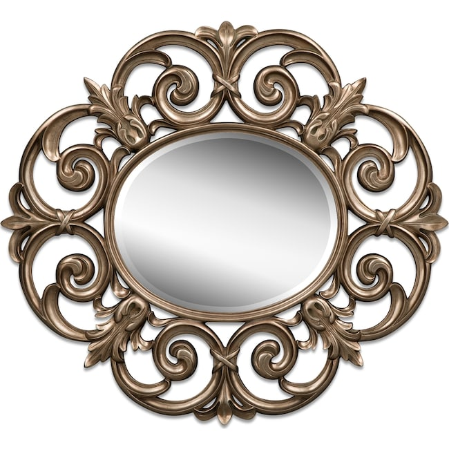 Accent and Occasional Furniture - Beatty Mirror - Bronze