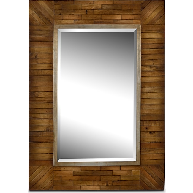 Accent and Occasional Furniture - Cole Mirror - Natural Wood