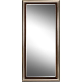 Jensen Floor Mirror - Silver and Walnut
