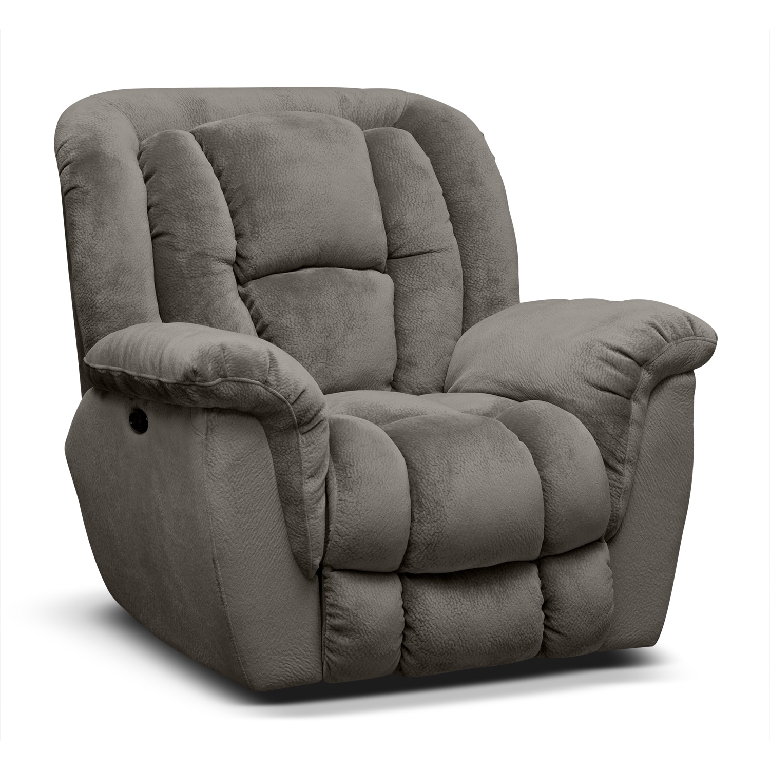 Living Room Furniture - Mammoth Power Recliner - Gray